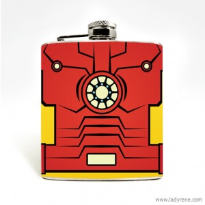Iron Man Flask by Lady Rene