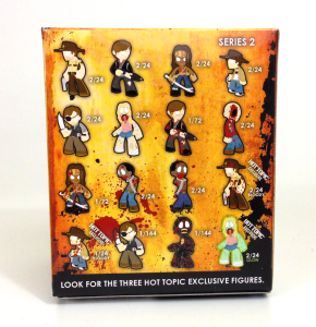 The Walking Dead - Mystery Minis - Back of Box