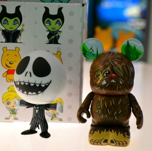 Funko Mystery Mini next to a Disney Vinylmation