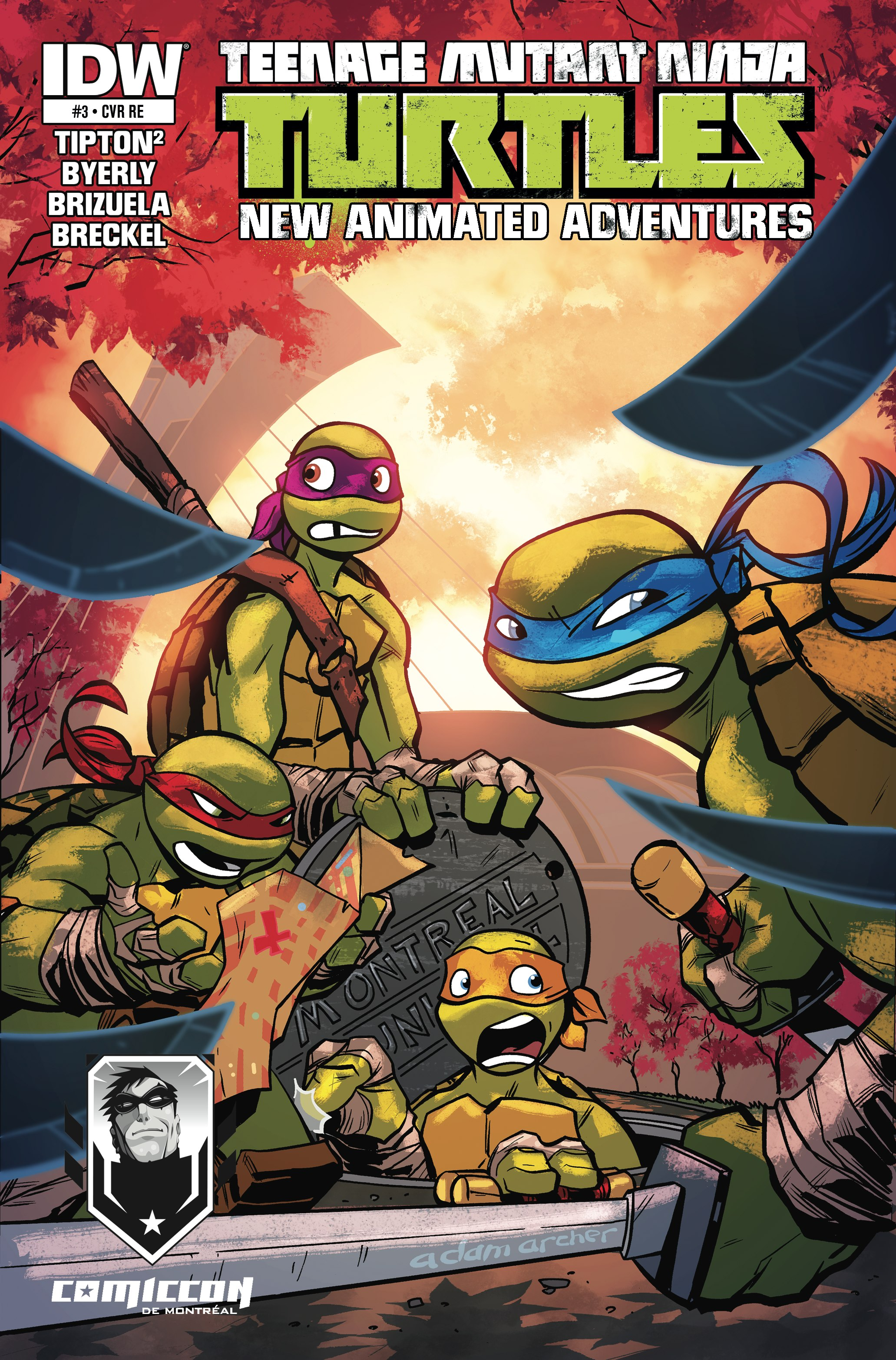 TMNT New Animated Adventures # - Montreal Comiccon Exclusive