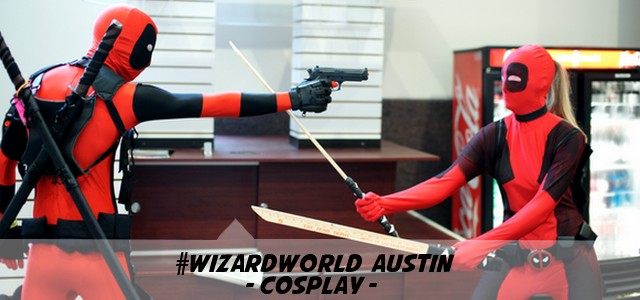 Wizard World Austin 2013 - cosplay - Deadpool vs Lady Deadpool