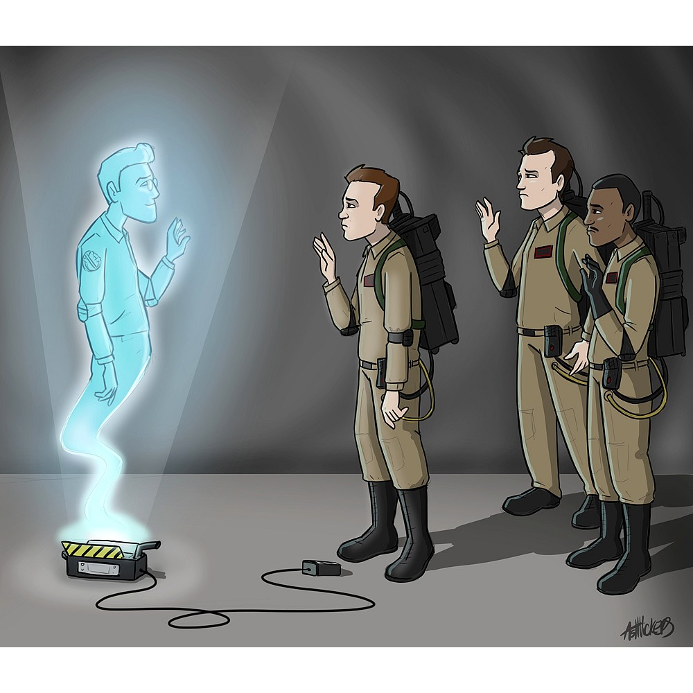 We will miss you Egon - by Ash Vickers
