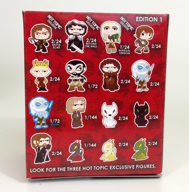 Game of Thrones - Mystery Minis - Back of Box