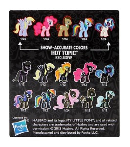 My Little Pony - Mystery Minis - Back of Box
