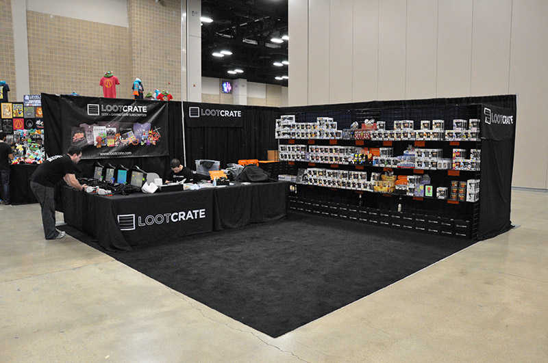 The Loot Crate booth