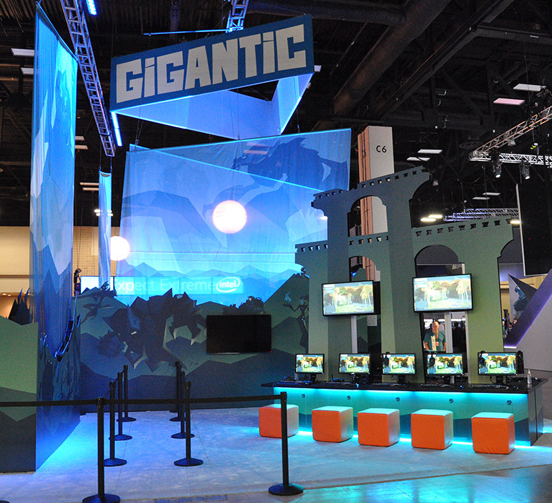 Motiga's 'Gigantic' booth