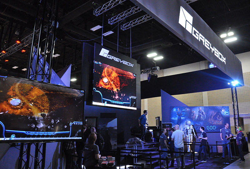 Grey Box's 'Grey Goo' booth