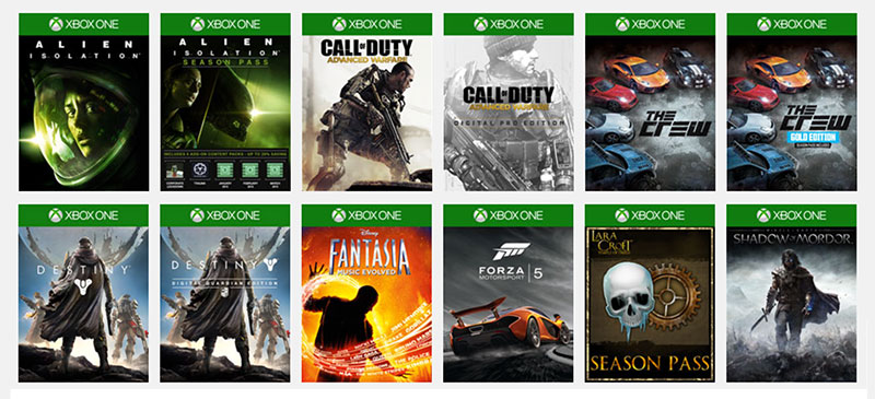 XBOX-UltimateGameSale-SampleList
