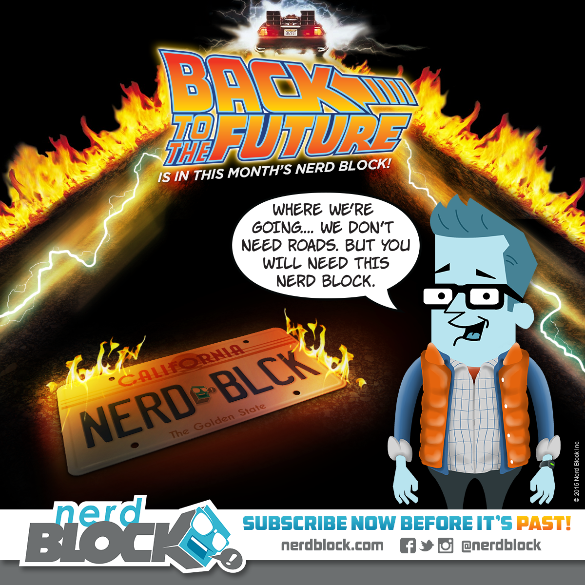 April Nerd Block Teaser - Back to the Future