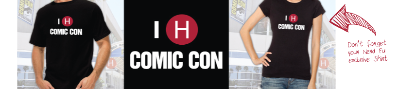 The Nerd Fu exclusive - I 'H' Comic Con T-Shirt