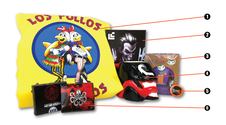 Loot Crate - August - Villains 2 - numbers