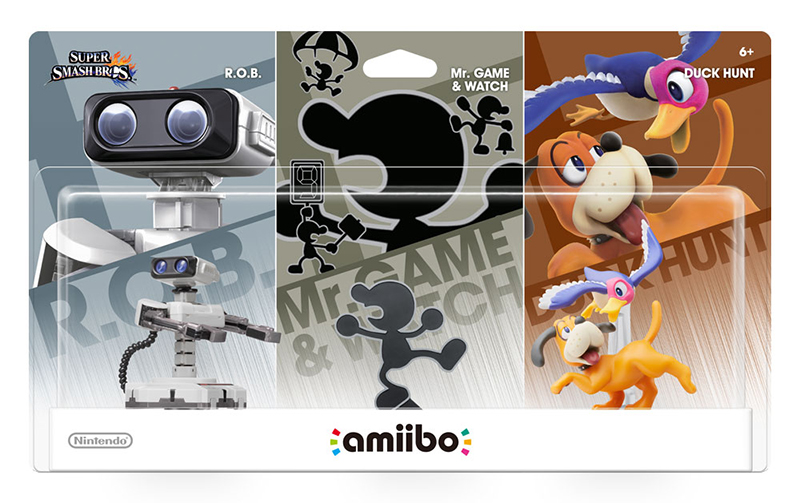 amiibo Retro 3Pack - R.O.B. - Mr. Game & Watch - Duck Hunt