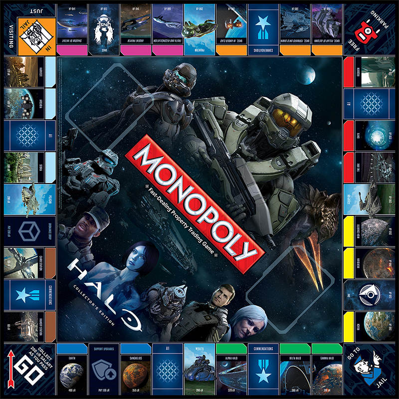 Halo Monopoly Collector's Edition - Full Board