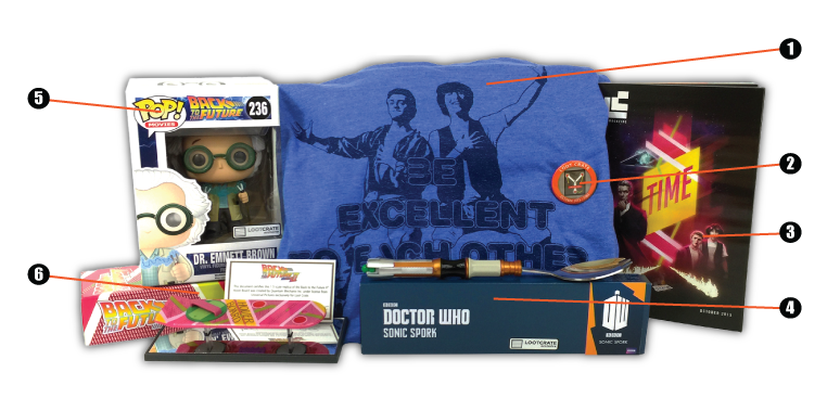 Loot Crate - October - 2015 - Contents