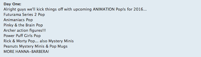 Funko News What To Expect In 2016