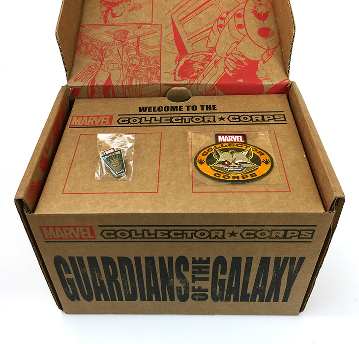 Marvel Collector Corps - GOTG - Inside Lid
