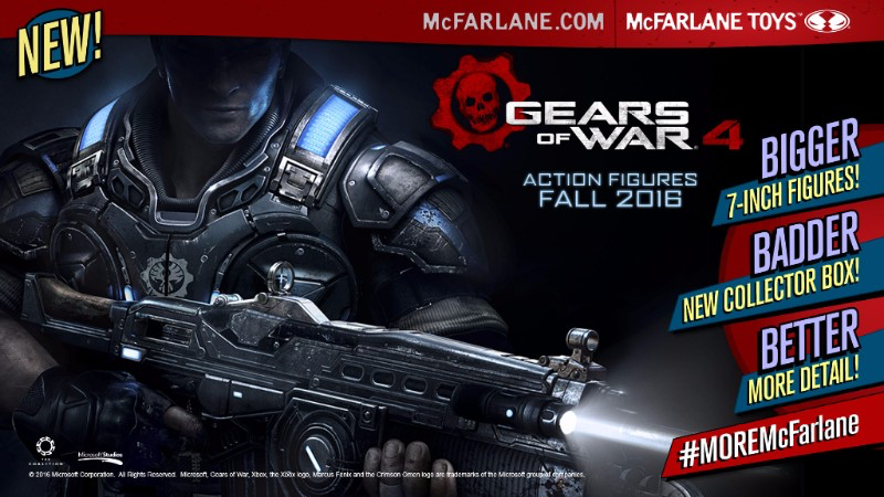 Gears of War 4 - Mc Farlane Toys - Banner Image