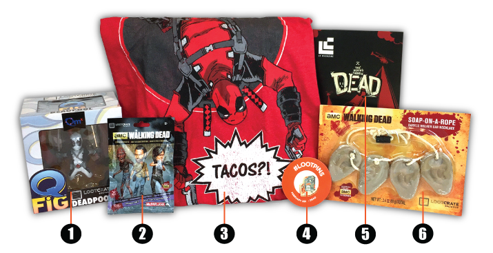 Loot Crate - February - 2016 - numbers
