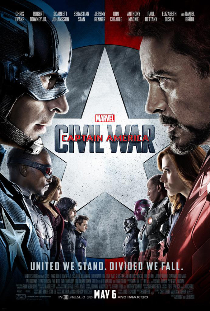 Captain America Civil War Poster - NEW