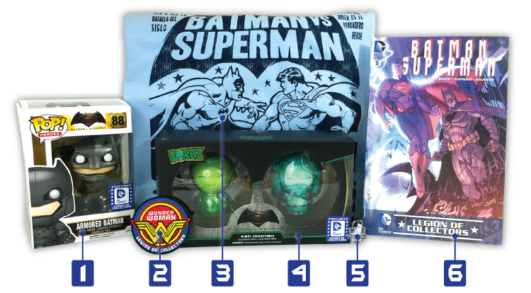 Legion of Collectors - Batman v Superman - Contents - Numbers
