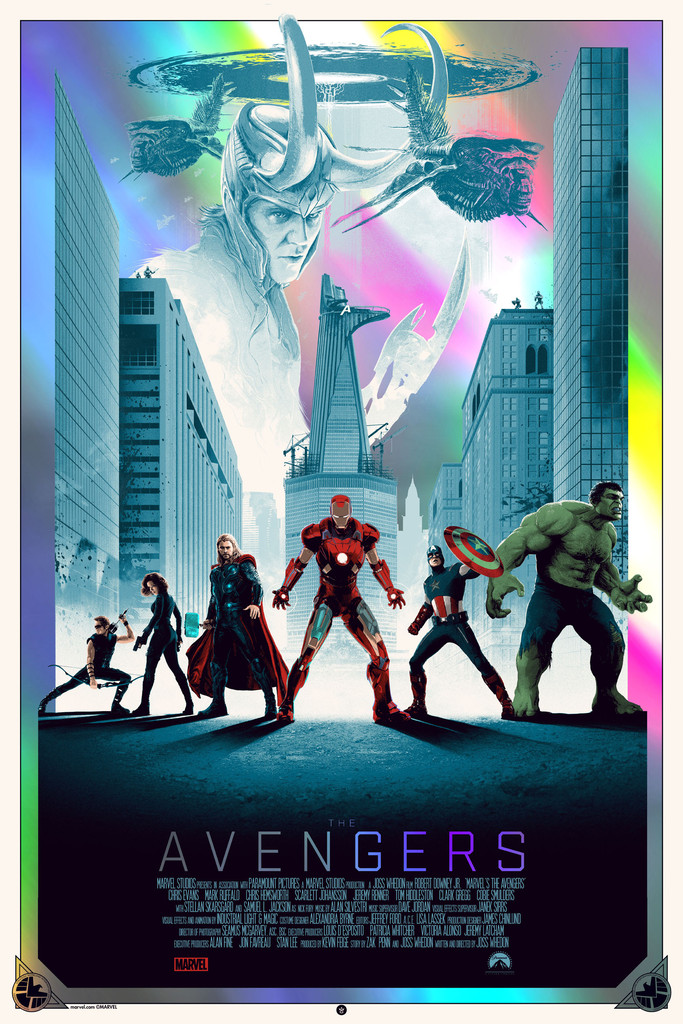 'The Avengers' - Matt Ferguson - Grey Matter Art - Foil Edition - LE 75