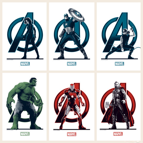 'The Avengers' - Matt Ferguson - Grey Matter Art - Hand-Bills - Regular Edition