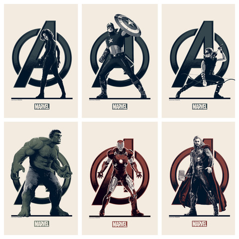 'The Avengers' - Matt Ferguson - Grey Matter Art - Hand-Bills - Variant Edition
