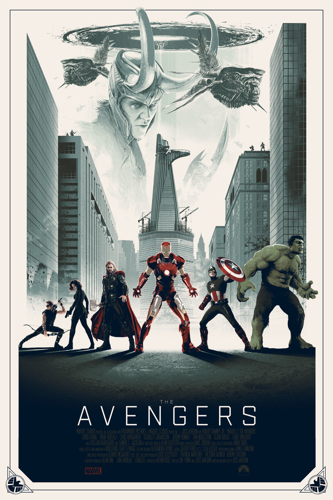 'The Avengers' - Matt Ferguson - Grey Matter Art - Variant Edition - LE 100
