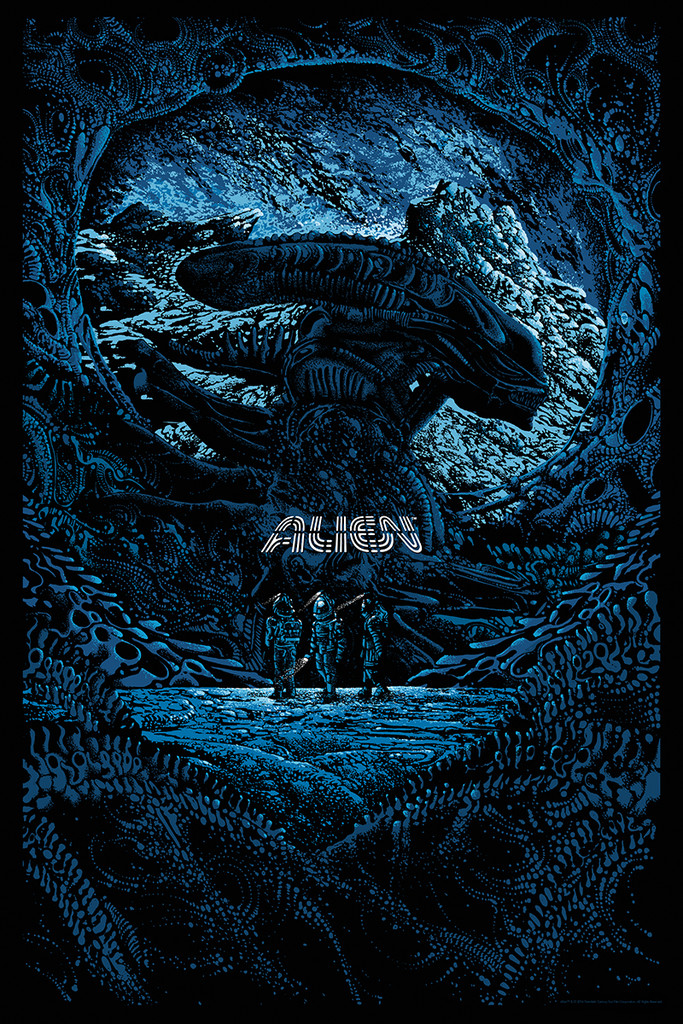 "Alien by Kilian Eng. Edition of 300. 24""x36"" Screen Print"