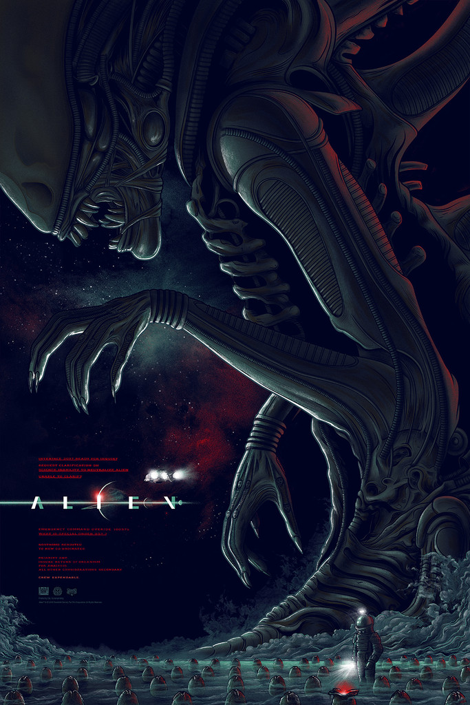 "Alien (Variant) by Mike Saputo. Edition of 125. 24""x36"" Screen Print"