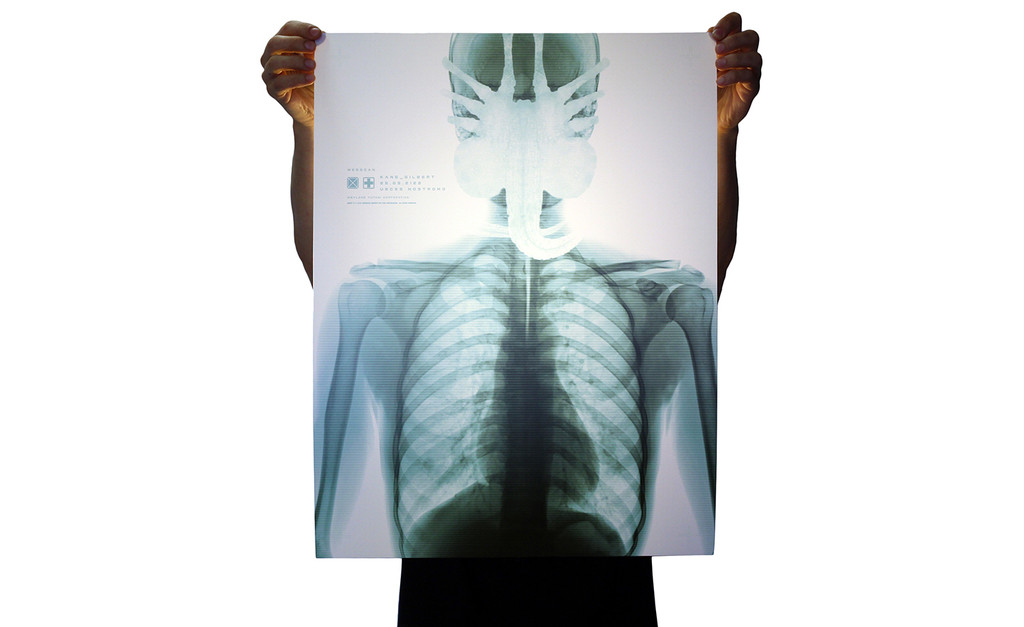 "Alien by Jay Shaw. Edition of 70. 18""x24"" Solvent Print on 9mil Front Print Backlit Polyester Film."