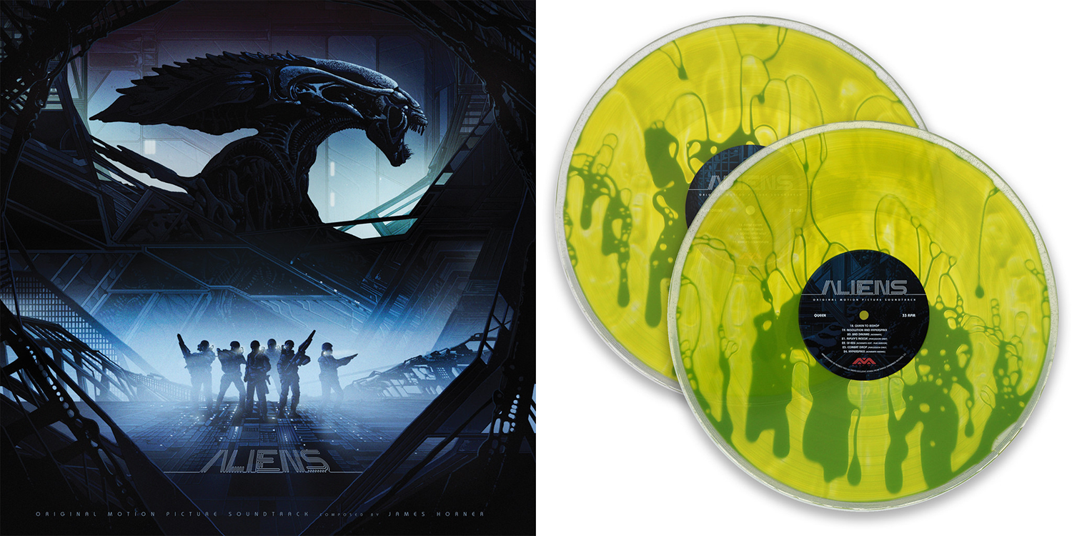 Aliens - Original Motion Picture Soundtrack 2XLP. Artwork by Kilian Eng. Limited to 75 copies