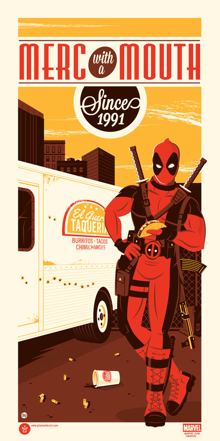 Deadpool - Dave Perillo - Grey Matter Art - LE 150