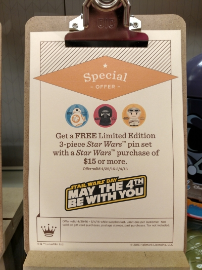 Hallmark - Star Wars Day - 3 Piece Pin Set