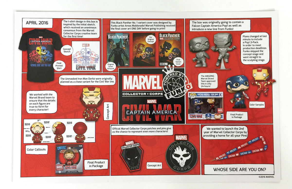 MCC - Captain America: Civil War - Contents - Checklist
