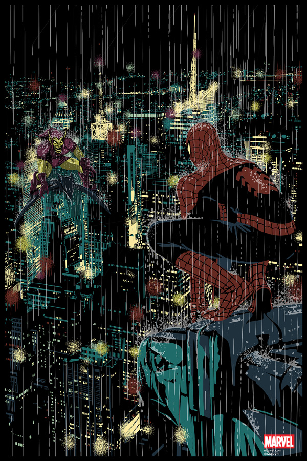 Spider-Man VS Green Goblin - Chris Thornily - Grey Matter Art - LE 150