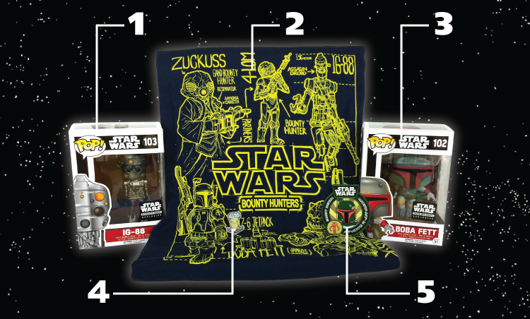 Star Wars - Smuggler's Bounty - Bounty Hunters - Contents - with Numbers