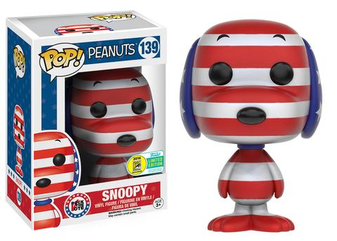 Funko - SDCC 2016 - Exclusive - Funko Pop! - Peanuts - Patriotic Snoopy