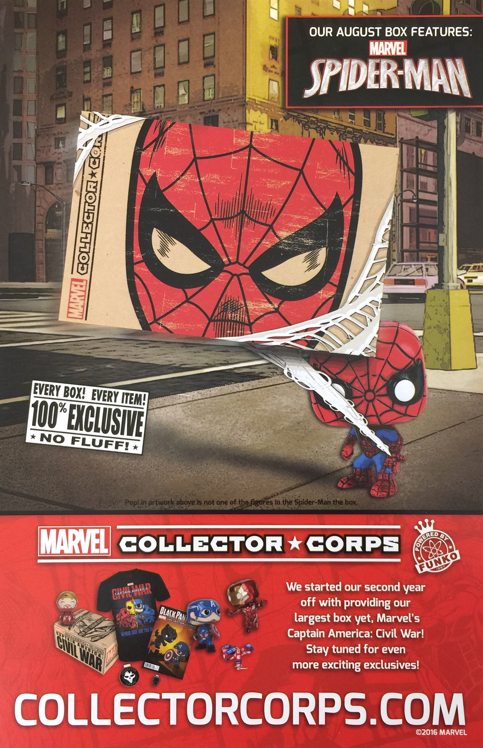 Marvel Collector Corps - August - Spider-Man