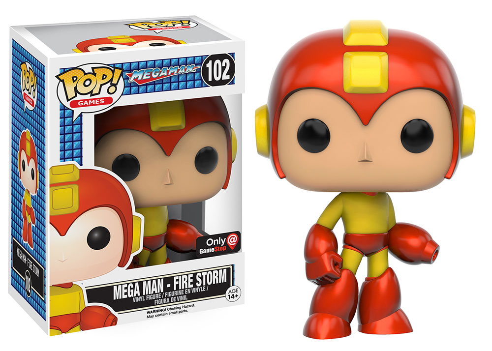Mega Man - Fire Storm - Funko Pop! - Game Stop - Exclusive