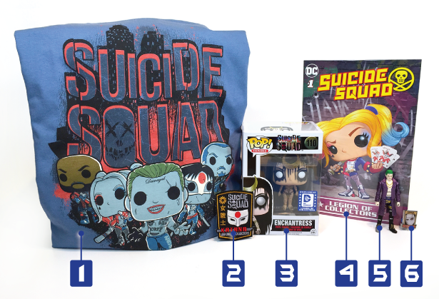 Legion of Collectors - July - Suicide Squad - Numbers