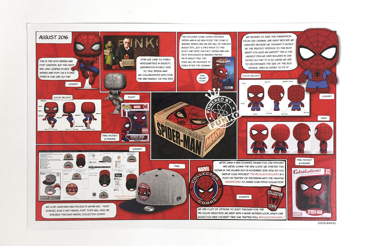 Marvel Collector Corps - Aug 2016 - Spider-Man - Checklist