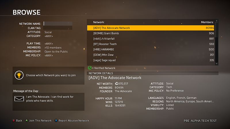 Titanfall 2 - Networks - 05 - Browse Networks-SearchByName