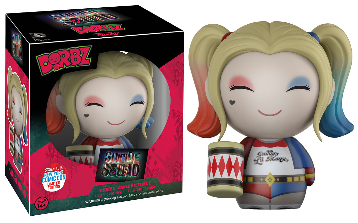 Funko - NYCC - Exclusive - Dorbz - Suicide Squad - Harley Quinn with Mallet