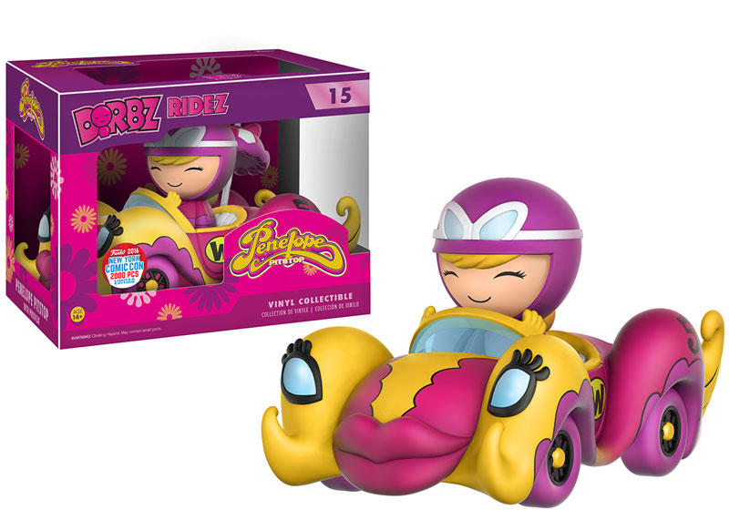Funko - NYCC Exclusive - Dorbz Ridez - Compact Pussycat and Penelope Pitstop