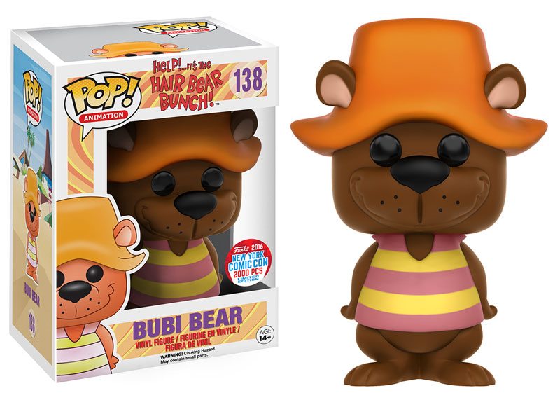 Funko - NYCC Exclusive - Pop! Hair Bear Bunch - Bubi Bear
