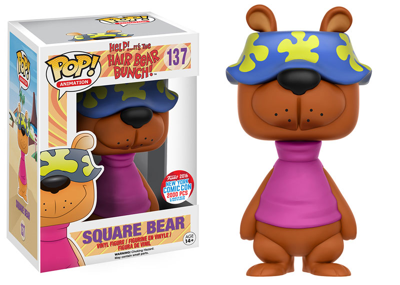 Funko - NYCC Exclusive - Pop! Hair Bear Bunch - Square Bear