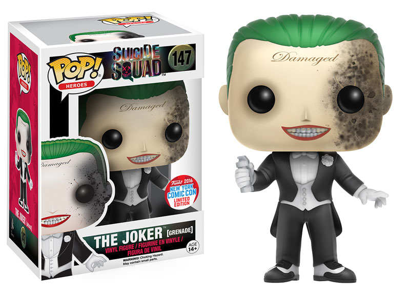Funko - NYCC - Exclusive - Pop - Suicide Squad - Joker - Grenade Damage