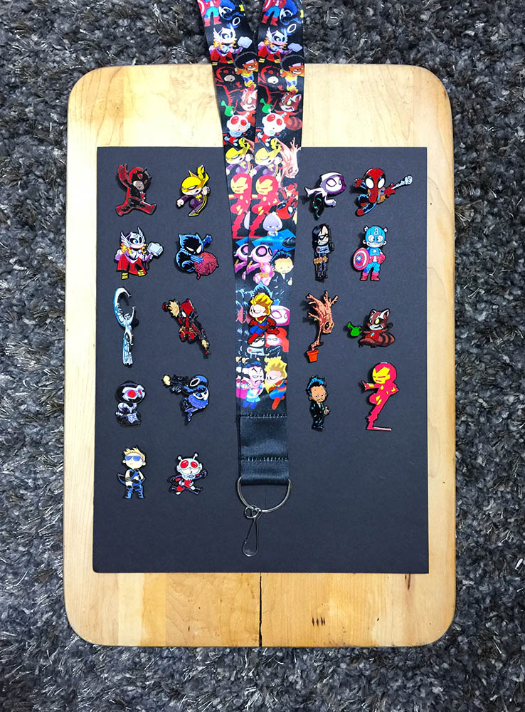 Shadowbox - Skottie Young Pins - Layout