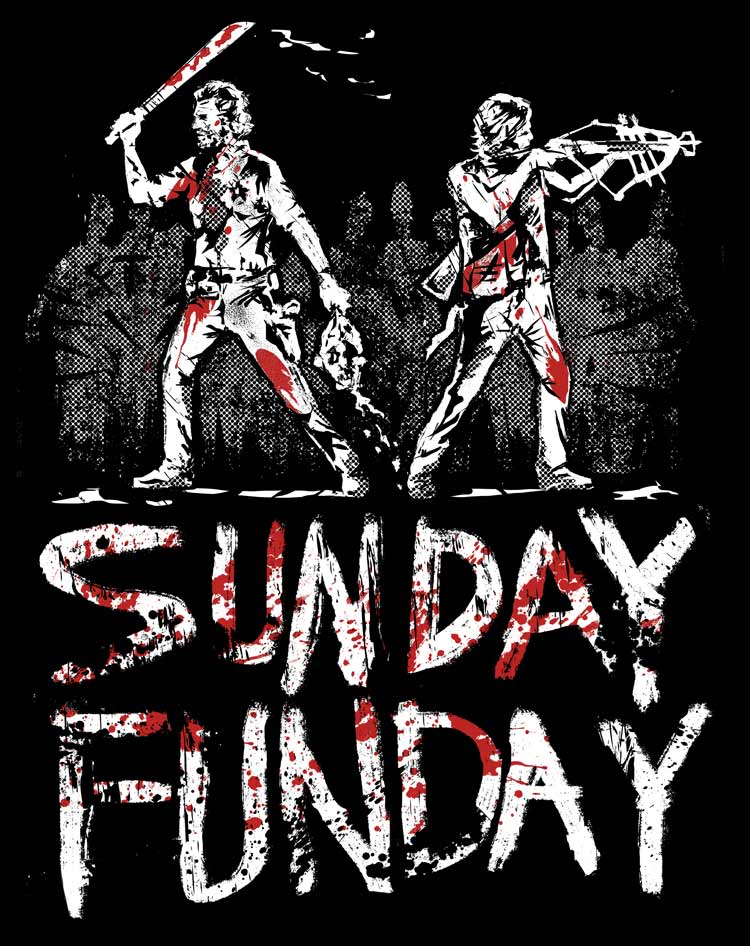 'Weekend Warriors' - A New T-Shirt Design from Tee No Evil - The Walking Dead - main